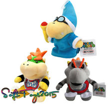 3pcs Super Mario Bros Magikoopa Kamek Bowser Baby Jr. Koopa Plush Doll Toy Gift