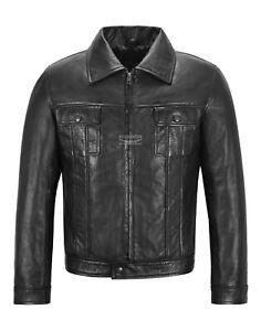 Elvis Presley Leather Jacket Black Napa Retro Fashion Lambskin Leather Jacket