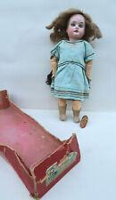 Poupée ancienne 27Cm L adorable Dep 201 Juillet 1913 Bleuette ? + Fond de Boite
