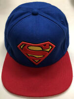 """DC Comics Superman SnapBack Adjustable """"Cape"""" Hat Pre Owned """"Big Logo"""" Super Man"""