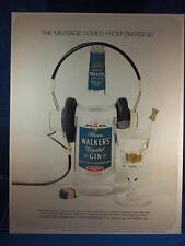 Vintage Rivista Ad Stampa Design Pubblicità Hiram Walker's Cristallo Gin