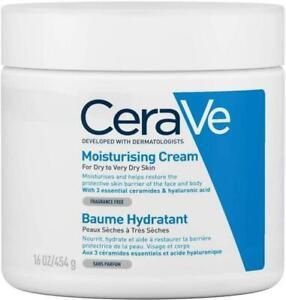 CeraVe Moisturising Cream   454 g/16 oz   Daily Face, Body & Hand Moisturiser &