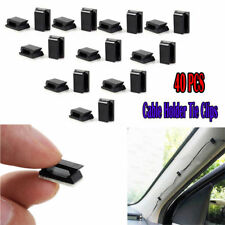 40x Auto Car Wire Cord Cable Tie Clips Fixer Fastens Organizer Adhesive Clamp
