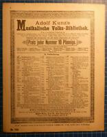 Adolf Kunz Musikalische Volksbibliothek- No. 1586 Notenblätter H-8599