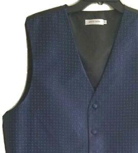 Pierre Cardin Vest Festive Blue and Silver Men's Size XL ~ NEW!