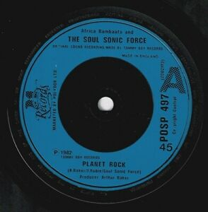 AFRIKA BAMBAATAA & SOULSONIC FORCE Planet Rock Vinyl 7 Inch 21 Records And 1982