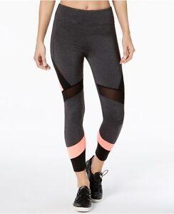 Calvin Klein Women`s XS Performance High Waist Colorblocked Leggings Sweats Heat