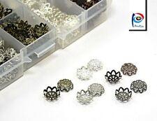525 Metall Perlenkappen Filigrane 10mm Endkappen Silber Kupfer Oxi Mix Box M569