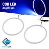 A pair Angel Eyes COB Halo Ring Blue 60mm-130mm LED Light Headlight Fog Housing