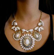 Kate Spade New York Capri Garden statement big necklace white