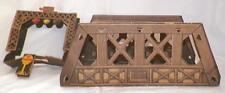 Vintage Cardboard Bridge 4 Railroad Train Display Toy Christmas Putz Lithograph