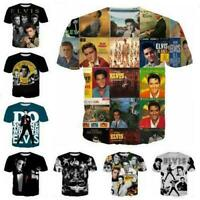 New Women/Men Rock Singer Elvis Presley 3D Print Casual T-Shirt Short Sleeve Top