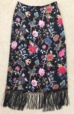 Muse Boston Proper Women's 100% Silk Skirt, Size 12, Floral