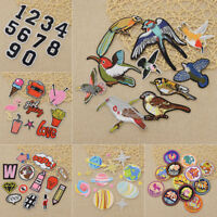 Patch Set Planet Constellation Embroidery Applique Number Bird Craft DIY Sewing