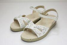 SAS 7.5 Extra Wide White Sandals
