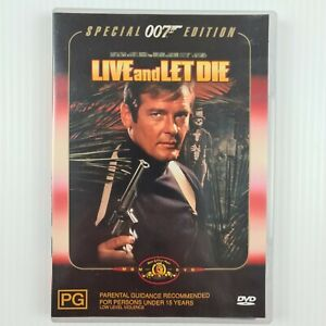 Live and Let Die Special Edition DVD - James Bond 007 - Region 4 - TRACKED POST