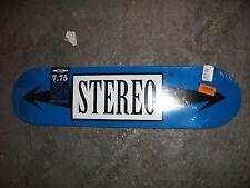 Stereo Skateboards Standard Blue Arrow Skateboard Deck, 7.75