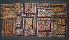 """Beautiful vintage India ethnic embrodery and mirror patchwork tapestry.30"""" x 16"""""""