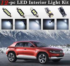 12-pc White Canbus LED Interior Light Bulbs Package Kit Fit 2009-2015 VW Tiguan