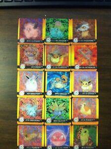 Lot of 15 1999 Artbox Pokemon Action Flipz
