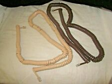 Two Western Electric Very Long Modular Telephone Handset Cords.