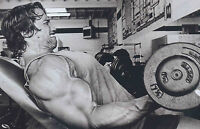 Framed Print - Arnold Schwarzenegger Working Out(Picture Poster Art Bodybuilding