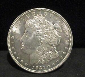 1921 Morgan Silver Dollar - Unc. Spiked Tail!     ENN COINS