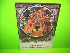 Zaccaria MAGIC CASTLE Original 1984 Flipper Game Pinball Machine Sales Flyer