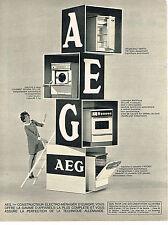 PUBLICITE  1968   AEG  lave linge lave vaisselle éléctroménager