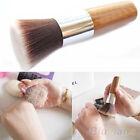 Flat Top Buffer Foundation Powder Brush Cosmetic Makeup Tool Wooden Handle BF4U