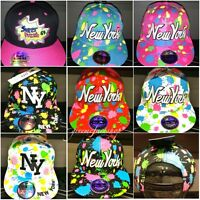 Splash snapback caps, bling flat peak baseball fitted hats, hip hop NY fresh
