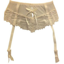 New Ivory Suspender Belt UK 8 Bridal Sheer metal fastener KEIA Georgie Eur 34