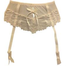 New Ivory Suspender Belt UK 8 Bridal Sheer metal fastener KEIA Georgie Eu 34