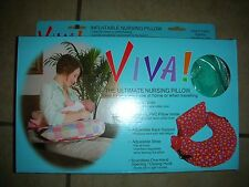 Viva! The Ultimate Nursing Pillow - Aqua Color - Easy To Clean - New!