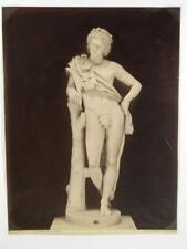 Photographie vers 1880, Statue Faune, Rome