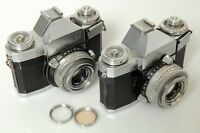 2X ZEISS CONTAFLEX IV 864/24. W/ 50MM TESSAR.. FOR PARTS OR REPAIR.
