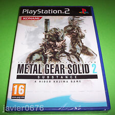 METAL GEAR SOLID 2 SUBSTANCE NUEVO Y PRECINTADO PAL ESPAÑA PLAYSTATION 2 PS2