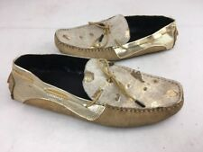 Android Homme Accelerator Tan Gold Splatter Pony Hair Leather Loafers shoes 10