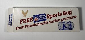 Vintage 1986 Washington Redskins Winston Promotional NFL Team Sports Bag, Open