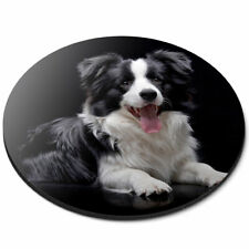 Round Mouse Mat - Black Border Collie Farm Dog Puppy Office Gift #21376