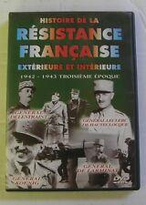 DVD HISTOIRE DE LA RESISTANCE FRANCAISE - 1942 / 1943 TROISIEME EPOQUE
