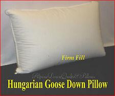 HUNGARIAN GOOSE DOWN FIRM PILLOW  KING FILL POWER