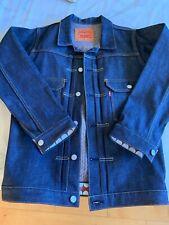 Original Fake Kaws Chompers X Levi's mens 40 M denim jacket used 507-105XX