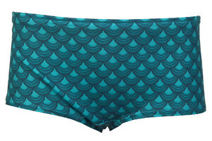 T58 UK Women Green Mermaid Print Shorts Ladies Summer Trousers Pants Size 14-18