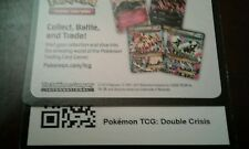 Pokemon Online XY DOUBLE CRISIS Unused Code (4x 7-Card Booster Pack+ Promo Coin)