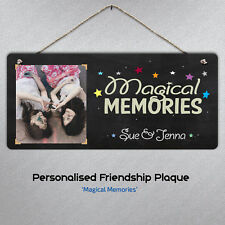 Personalised Friendship Plaque - Metal Sign Best Friend Memories Hanging Gift