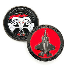 USAF Lockheed Martin F-35A Lightning 34th Fighter Sq Rude Rams Challenge Coin ~~