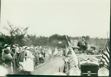 Charles Lindbergh Riding In An Open Car In A Parade. L007