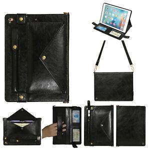 Envelope Leather Shoulder Bag Case Cover Fr iPad Pro 12.9/Pro 11/8th Gen/6th Gen