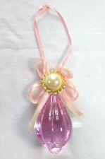 Pink Lucite Faux Pearl Ribbon Bow Chrismas Ornament